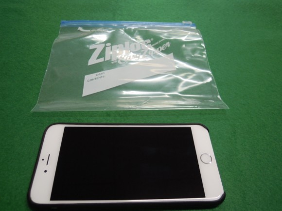 Ziploc とiPhone6 Plus