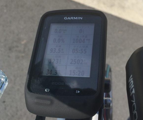 ガーミン510Jのロードバイクへの装着写真