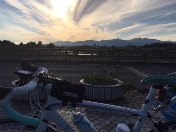 久保田橋からの夕焼け