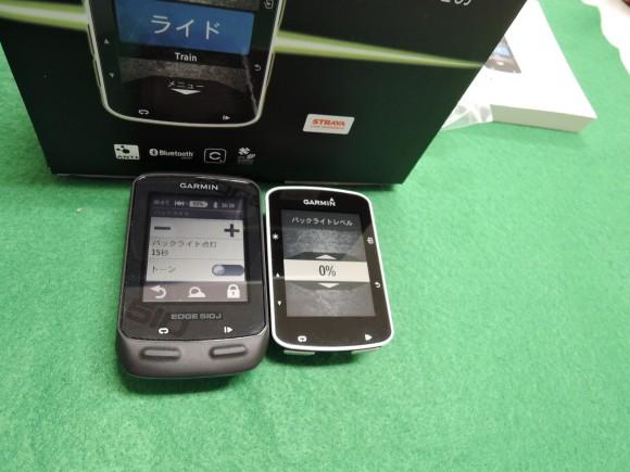 Garmin Edge520J と Edge510Jの比較