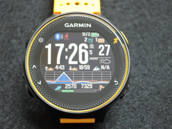 「Garmin ForeAthlete235J」のウォッチフェイス画面例