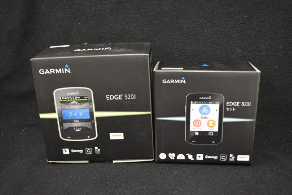 Garmin「Edge820J」と「Edge520J」の 外箱の比較