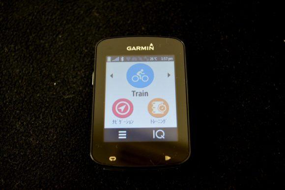 「Garmin Edge 820J」の購入直後の画面