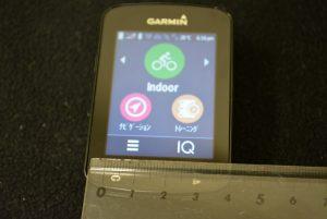 Garmin Edge 820J 画面サイズ計測