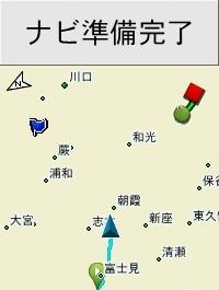 Garmin Edge520J コースナビゲーション画面