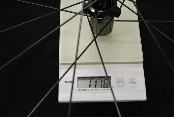 Dura-Ace WH-9000-C24-CLタイヤ装着と計量