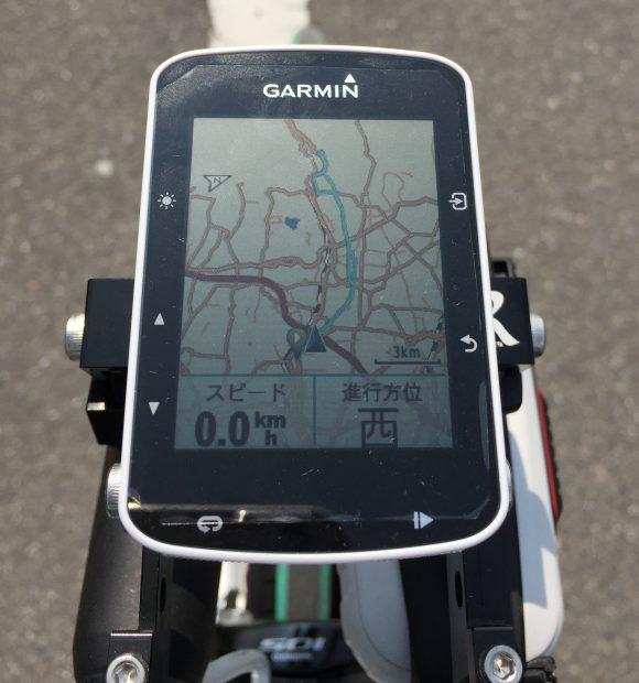 Garmin Edge520J 地図表示画面
