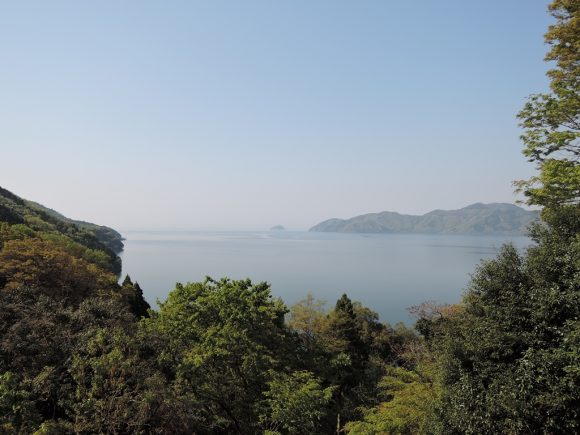賤ヶ岳より琵琶湖を望む