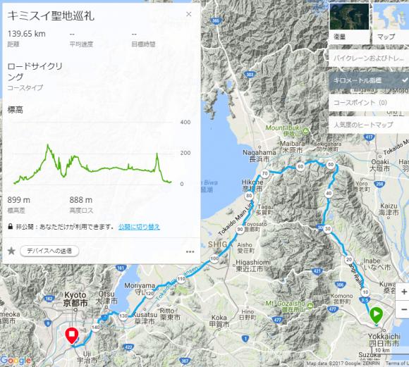 キミスイ聖地巡礼コースマップ