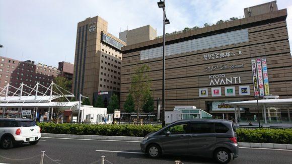 京都駅南口の街並み