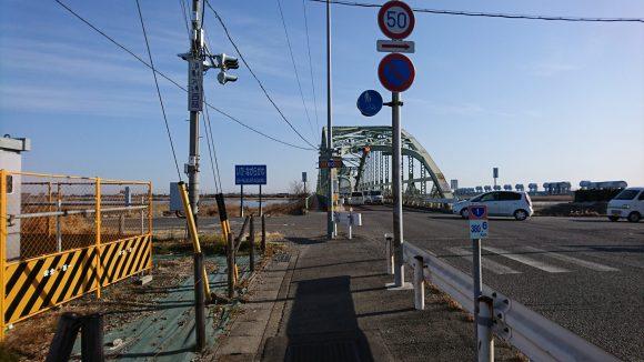 ロードバイク 揖斐長良川 橋 国道1号