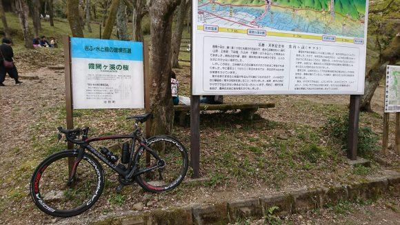 霞間ヶ渓の看板