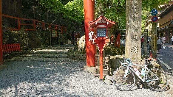 ロードバイクで貴船神社