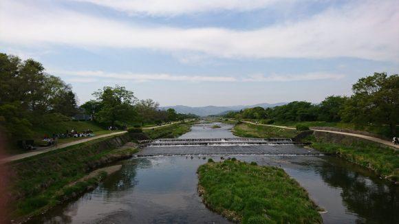 葵橋から見た鴨川