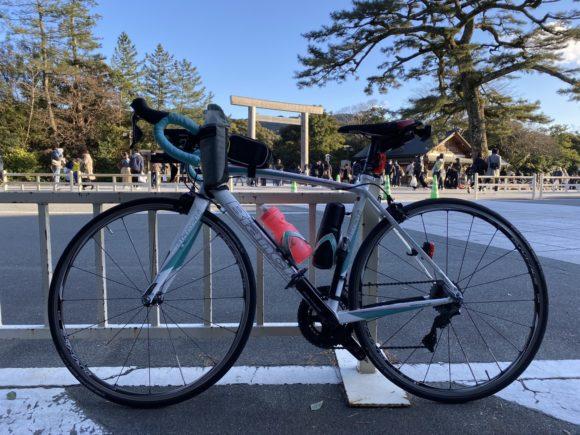 ロードバイクで伊勢神宮